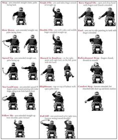 Motorcyclist's Hand Signals I think every biker ought to know these...