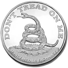 "2014 RONALD REAGAN 1 Ounce Oz Silver .999 Round /""DON/'T TREAD ON ME/"""