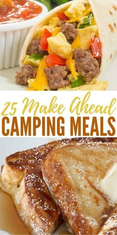 25 Make Ahead Camping Meals - It may seem like 25 make ahead camping meals wouldn't be much of a topic for SHTF. #camping #campingmeals #campingfood
