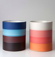 Gilberto Paim; Glazed China 'Night and Day' Vases, 2013.