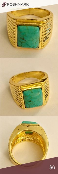 Gold turquoise ring Great condition Vintage Jewelry Rings