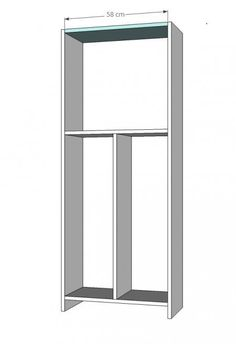 Zapatero lateral extraible para armario vestidores pinterest zapateras armario y - Como hacer un armario zapatero ...