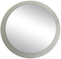 Lulu Decor Frosted Border Mirror Decorative Round Wall Mirror Diameter 24 Perfect for Housewarming Gift >>> Click image to review more details.