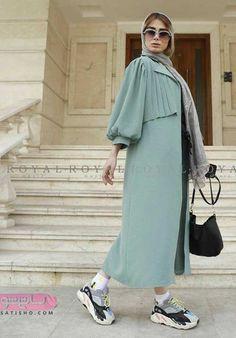 Modern Hijab Fashion, Street Hijab Fashion, Abaya Fashion, Modest Fashion, Couture Fashion, Mode Kimono, Mode Abaya, Iranian Women Fashion, Sleeves Designs For Dresses