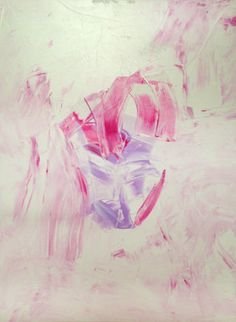 Untitled pink abstract art by Garage22 on Etsy