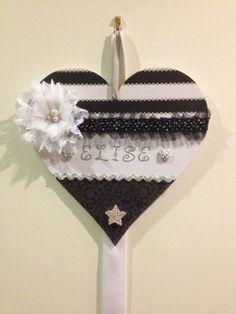 Personalised hair clip hanger.