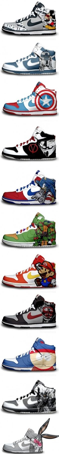 I usually don't like nikes but theses are cool ideas