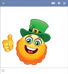 This smiley is thrilled to be Irish.