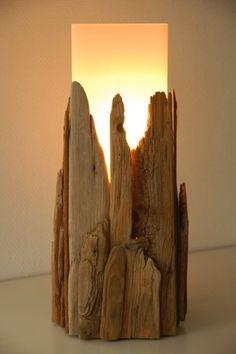 Lamparas de madera natural, el retorno a la madre naturaleza.