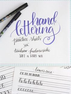 These free printable hand lettering practice sheets are designed help you practice the strokes of each letter to build up that muscle memory. A big help for lettering His love in Bible journaling! Doodle Lettering, Creative Lettering, Lettering Styles, Brush Lettering, Typography, Hand Lettering Fonts Free, Hand Lettering For Beginners, Hand Lettering Alphabet, Graffiti Alphabet