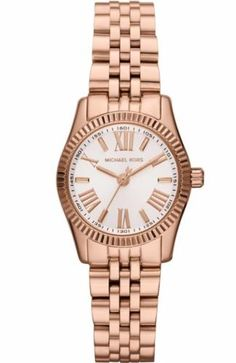 MICHAEL-KORS-MK3230-WOMENS-PETITE-LEXINGTON-ROSE-GOLD-TONE-BRACELET-WATCH-NEW