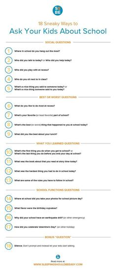 Met with silence when you ask your kids about school? Check out these 18 sneaky ways to get your kids talking.