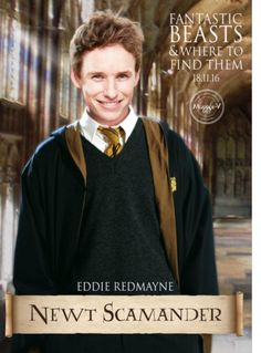 Eddie Redmayne and yes he's in the house of Hufflepuff!!!!