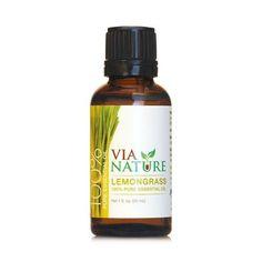 Via Nature Essential Oil 100% Pure Lemongrass (1x1 Fl Oz)