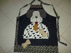 Projeto de avental de cachorro, acompanha moldes no tamanho original, passo a passo e foto, e pode ser enviado com carta registrada com custo de 4,00