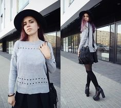 Get this look: http://lb.nu/look/8440535  More looks by Ola Brzeska: http://lb.nu/olabrzeska  Items in this look:  Zaful Backless Sweater, New Look Fringed Bag, Cn Direct Hat, Born2be.Pl Boots   #punk #romantic #street #polishgirl #backless #autumn #fall #boots #japanstyle
