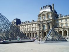 The Louvre museum..& the Louvre pyramid..