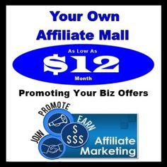 """We Will Build Your Own Affiliate Marketing Mall """"Just Like This One"""" But With Your Affiliate Links $12 Month! This """"Affiliate Marketing Mall"""" Allows You To Promote Any Money Making Program You Are Working…   How would you like a MONEY MACHINE that will work for you 24 hours a day 7 days a […]"""