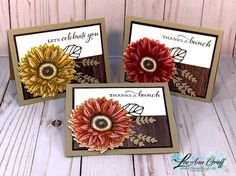 Celebrate Sunflowers. Crafty Projects, Projects To Try, Thanks A Bunch, Sunflower Cards, Fall Cards, Stampin Up Cards, Paper Design, I Card, Thank You Cards