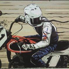 Ryan Quickfall's illustration #illustration #design #motorcycles #motos | caferacerpasion.com