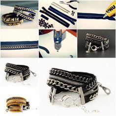 How to make Stylish Bracelet step by step DIY tutorial instructions thumb