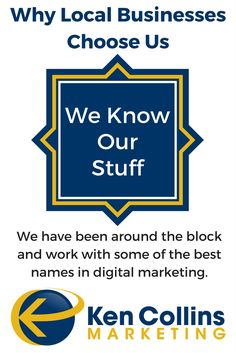 We Know Our Stuff. We have been around the block and work with some of the best names in digital marketing. We simply know our stuff. https://kencollinsmarketing.com/