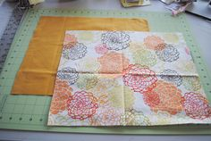 DIY placemats. But maybe do them with the bottom fabric folded over the top edge