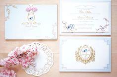 Wedding invitation with chinoiserie theme | Petter & Liviana by Fornia Design Invitation | http://www.bridestory.com/fornia-design-invitation/projects/petter-liviana