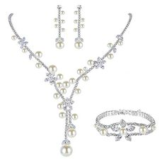 Ever Faith herrlich Zirkonia edel künstlich Perl Blume Form Schmuck Set Silber-Ton N06071-1 Ever Faith http://www.amazon.de/dp/B00Y7ZEIR0/ref=cm_sw_r_pi_dp_DhAUvb0GGXDQ8