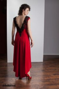 Czerwona Długa Suknia Na Wesele Bal Studniówkę Sylwester Moda