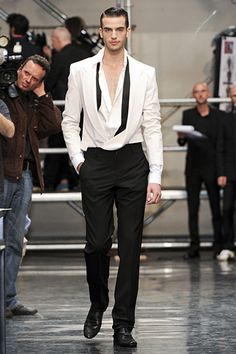 True to his love of paradox, Jean Paul Gaultier played with layering unexpected for his spring