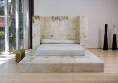 """""""Alabaster B. Bed by Rick Owens. Marble Bedding, Girl Desk, White Bedroom Decor, Teen Girl Rooms, Girl Bedroom Designs, Building Design, Bed Frame, Furniture"""