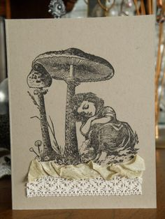 La Blanche stamps card. #lablanche