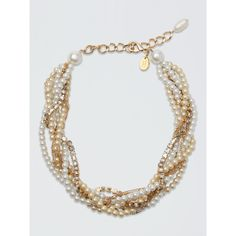 Draper James - Erickson Beamon For Draper James Intertwined Pearl... ($200) ❤ liked on Polyvore featuring jewelry, necklaces, sparkle jewelry, multi color necklace, pearl jewellery, multi color pearl necklace and twisted necklace