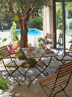 Table, fauteuil et chaise MONTEGO en bois durablement géré - Alinéa - Jeu concours Pinterest - A gagner : 500€ en bons d'achat ! Jouez sur : https://www.pinterest.com/alinea/jeu-en-exterieur/