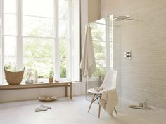Get started on your new wet room with the Transitional, Curbless Shower Pan from Trending Accessibility. Turn your bathroom into a barrier free, open concept. Scandinavian Bathroom, Scandinavian Interior Design, Dream Bathrooms, Small Bathroom, Bathroom Ideas, Wooden Bathroom, Family Bathroom, Bathroom Styling, Home Design