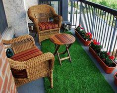 Small Balcony Design, Small Balcony Garden, Small Balcony Decor, Balcony Ideas, Modern Balcony, Outdoor Balcony, Apartment Balcony Decorating, Interior Decorating, Apartment Balconies