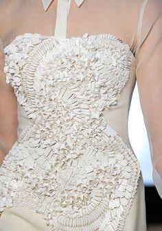 So into the matte white sequins.  Antonio Berardi. Fall 2012.