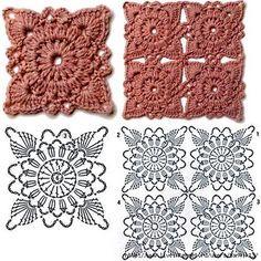 Watch The Video Splendid Crochet a Puff Flower Ideas. Phenomenal Crochet a Puff Flower Ideas. Crochet Motifs, Granny Square Crochet Pattern, Crochet Blocks, Crochet Diagram, Freeform Crochet, Crochet Squares, Crochet Lace, Crochet Puff Flower, Crochet Flower Patterns