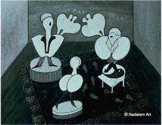 """""""Inflated Egos"""" -1989 B+W oil painting inspired by William Shakespeare: """"As You Like It""""  All the world's a stage; and all the men and women merely players; They have their exits and their entrances;  and one man in his time plays many parts. In private collection. Contemporary Australian art.  #nadaismart"""