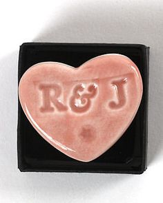 Wedding magnet favours - could make personalised shapes etc using salt dough and magnetic tape