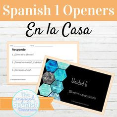 Spanish 1 House and Family Class Openers by The Engaged Spanish Classroom