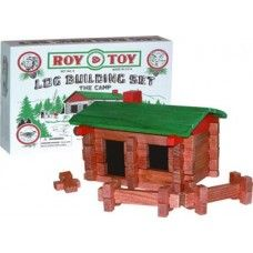 Roy Toy Small Log Cabin Building Set