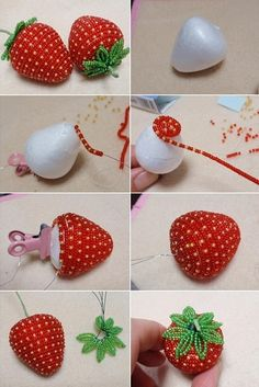 Pandahall provides craft ideas for making handmade jewelries. You can get the amazing craft idea when you buy the materials Beaded Flowers Patterns, French Beaded Flowers, Bead Embroidery Patterns, Bead Embroidery Jewelry, Beaded Embroidery, Beading Patterns, Beaded Crafts, Wire Crafts, Jewelry Crafts