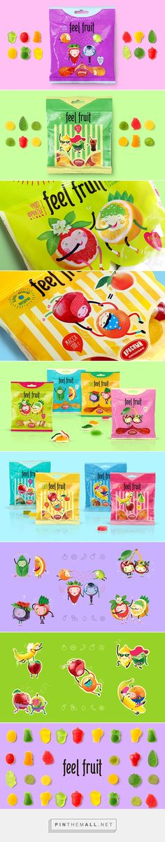 Feel Fruit #plastic #packaging by Fabula Branding