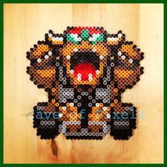 Bowser Super Mario Kart perler beads by caveofpixels