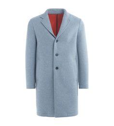 MSGM MSGM GREY COAT WITH ORANGE LINING. #msgm #cloth #