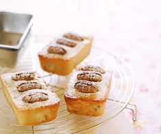 Pecan and apple friands