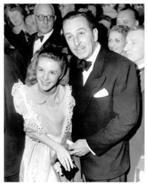 Walt Disney and Kathryn Beaumont