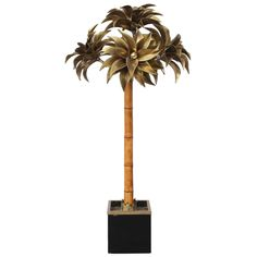 Large Maison Jansen Palm Tree Floor Lamp | From a unique collection of antique and modern floor lamps at https://www.1stdibs.com/furniture/lighting/floor-lamps/